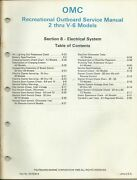 Omc Outboard Marine 2 - V6 Models 1986 Electrical System Service Manual 507508-8
