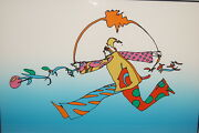 Peter Max 1972 Limited Edition Moving Into New Spheres Serigraph Hand Signed