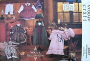 New Linda Carr Vogue Craft 8337 Early American Doll Dress Pattern Uncut Markings