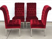 Set Of 4 Mid Century Milo Baughman Highback Dining/accent Chairs