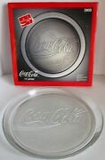 Coca Cola Glass Serving Platter Tray 3909 1990 Clear Indiana Glass 13 Vintage
