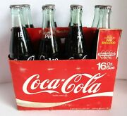 Coca Cola 8 Pack 16 Oz Return Bottles Sealed W Carrier Game Caps 1960's And 70's