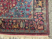 Antique Birds Of Paradise Wool Rug W/ A Very Fine Weave And The Finest Wool