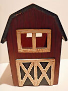 Vintage Open Roof Barn Bird House - Could Be Used As Candle Holder