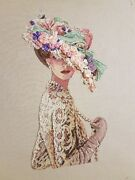 Counted Cross Stitch Picture Victorian Elegance Lady Hat