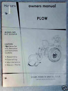 917.253010- Sears Tractor-3pt Bottom Plow Owners Manual On Cd