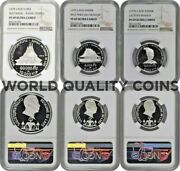 Laos 1975 Silver Proof Set 3 Coins Almost Perfect Condition Ngc Pf69