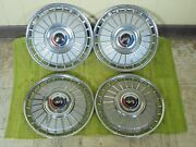 1962 Ford Hub Caps 14 Set Of 4 Wheel Covers 62 Hubcaps