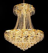 Palace Toro 11 Light Crystal Chandelier Ceiling Light 22x26 - Gold