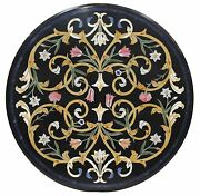 34 Marble Round Coffee Table Top Precious Marquetry Inlay Outdoor Decors H1414