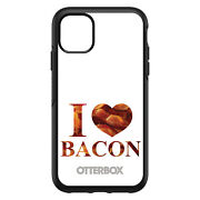 Otterbox Symmetry For Apple Iphone Pick Model - White Writing I Heart Bacon