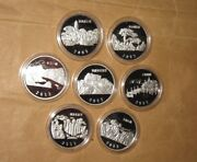 2003 Uganda 2000 S Cultural Heritage Of China Proof 7 Pcs Silver Coins With Bo