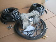 Big Max Large Pond Aeration Aerator System 150ft Weighted Hose +2 Lg Diffusers