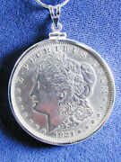 1217 Morgan Liberty Head 1921 Us Silver Dollar Coin Jewelry, Coin Is Removable
