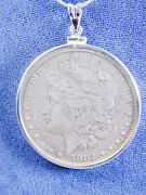 1213 Morgan Liberty Head 1882 Us Silver Dollar Coin Jewelry Coin Removable