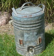 Vintage 5 Gallon Galvanized Water Can