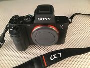Sony Alpha A7 Ii In Mint Conditionleather Casebody Cap 3batteries Strap Box