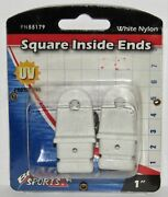 New Boater Sports Marine Boat White Nylon 1 Square Inside Ends Part No. 55179