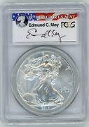 2014-w 1 Silver Eagle Struck At West Point Ms70 Pcgs Ed Moy