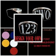 Stainless 3 - 4 Or 5 Letter Or Number Ring Any Combination Custom Size Handmade
