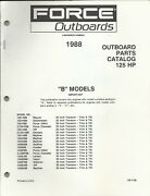 Us Marine Power Force Outboards 125 Hp B Models 1988 Parts Catalog Ob4199