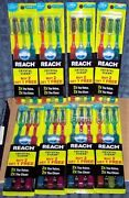 24 Reach Crystal Clean Toothbrushes - Firm Head Bi-level Bristles And Cleaning Tip