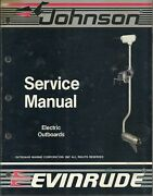 Evinrude Johnson Marine Boat Electric Outboards 1988 Service Manual P/n 507658