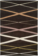 Rare Designer Hand Knotted Area Rug Tiki Torch 100 Wool 6'x9' New