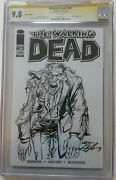 The Walking Dead 109 Cgc 9.8 Ss Sketch On Part. Blank Cover Signed Neal Adams