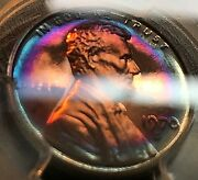 1970-s Lincoln 1c Lg. Date Pcgs Pr67rb Superb Toning Scratch-free Holder Chn