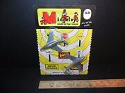 Midgetoy Vintage Die-cast 2 Airplanes New On Card - Navy And Usaf Nos - Free Ship