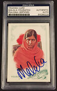 Malala Yousafzai Signed Psa Topps Allen And Ginter Nobel Peace Prize Autographed