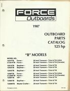 Us Marine Power Force Outboards 125 Hp B Models 1987 Parts Catalog Ob4163