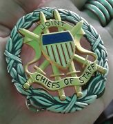 Rare Original Silver Usa Military Joint Chiefs Of Staff Identification Badge