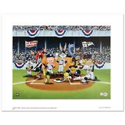 Line Up At The Plate Yankees Is A Collectible Warner Bros. Litho
