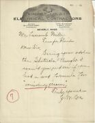 Old Vintage Joseph W. Lee And Co. Contractors Beverly Ma 1923 Letter Letterhead