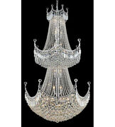 Palace Crown A 36 Light Foyer Crystal Chandelier Ceiling Light Chrome 36x66