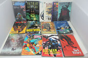 14 Batman Graphic Novel Lot Dark Victory, A Death In The Family, Sword Of Azra