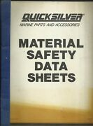 Quicksilver Marine 1988 Material Safety Data Sheets Msds Booklet