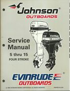 Evinrude Johnson Outboards 5 Thru 15 Four Stroke 1997 Service Manual P/n 507262