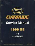 Evinrude Outboards Boat 1999 Ee 70 4-stroke Service Manual P/n 787023