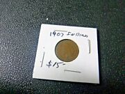 Lot Of 2 1890, 1907 Indian Head Pennies Rare