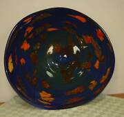 Modern 31 X 29 Multicolor Hand Blown Glass Wall Plate Europe/ Romania New