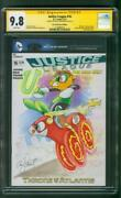 Justice League 16 Cgc 9.8 Andy Price My Little Pony Green Lantern Flash Sketch