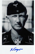 German Knights Cross Wwii Panzer Ace 11 Victories Siegfried Freyer Signed Photo