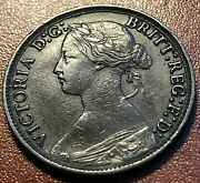 1873 Great Britain Farthing Nice Xf Estate Coin Chn
