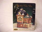 Heartland Valley Village Hand Painted Deluxe Porcelain Lighted Barber Shop
