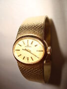 Vintage Movado 14kt Yellow Gold Oval Mechanical Ladies Wristwatch