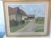 Oil On Board Painting And039hole Farmand039 Great Leighs-james Kidwell Popham C1884-1966