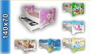 Children Bed Bed For Girls Kids With Mattress 140x70cm + Drawer + Pillow